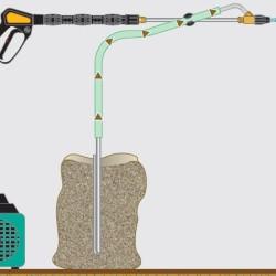 Kombinationsblästring (sand + vatten)